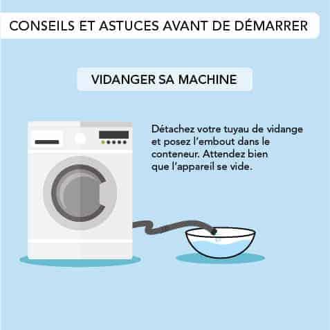 Vidanger le lave-linge