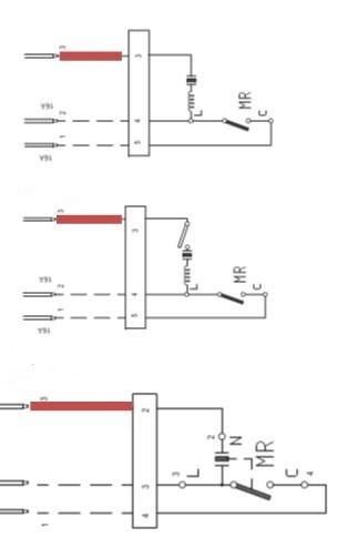 Attention : ne mettez jamais en contact le fil représenté en rouge avec les autres fils sous risque d'endommager la carte électronique de votre appareil ! Court-circuitez uniquement L et C.