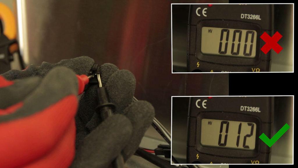 Tester avec un multimètre l'arrivé électrique de l'ampoule