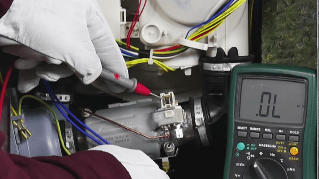 test-fuite-electrique-multimetre-resistance-lave-vaisselle