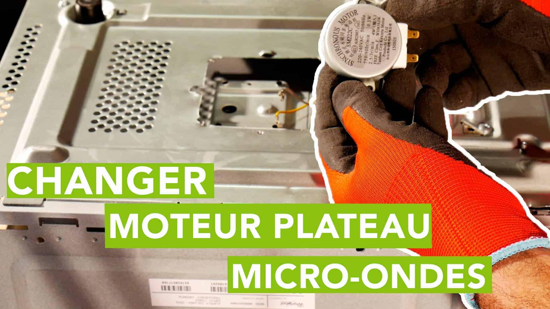 Demonter Plaque De Cuisson Electrique micro-ondes : comment changer le moteur de plateau du micro