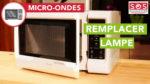 Comment remplacer la lampe de micro-ondes