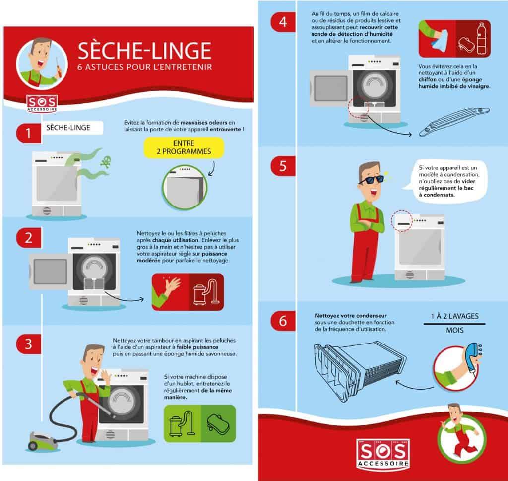 7 conseils et astuces pour bien entretenir son sèche-linge