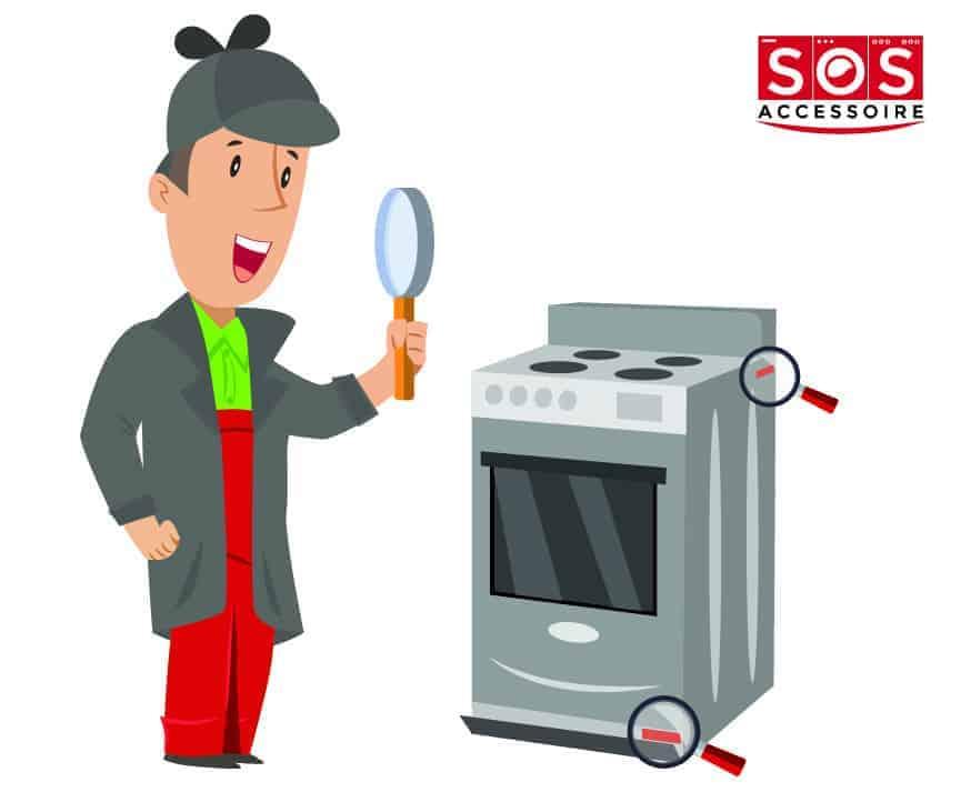 Localiser la plaque signalétique sur une cuisinière
