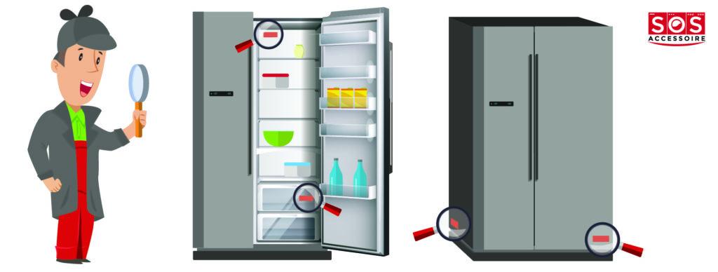 Localiser la plaque signalétique sur un frigo américain