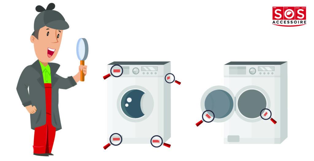 Localiser la plaque signalétique sur un lave-linge à hublot