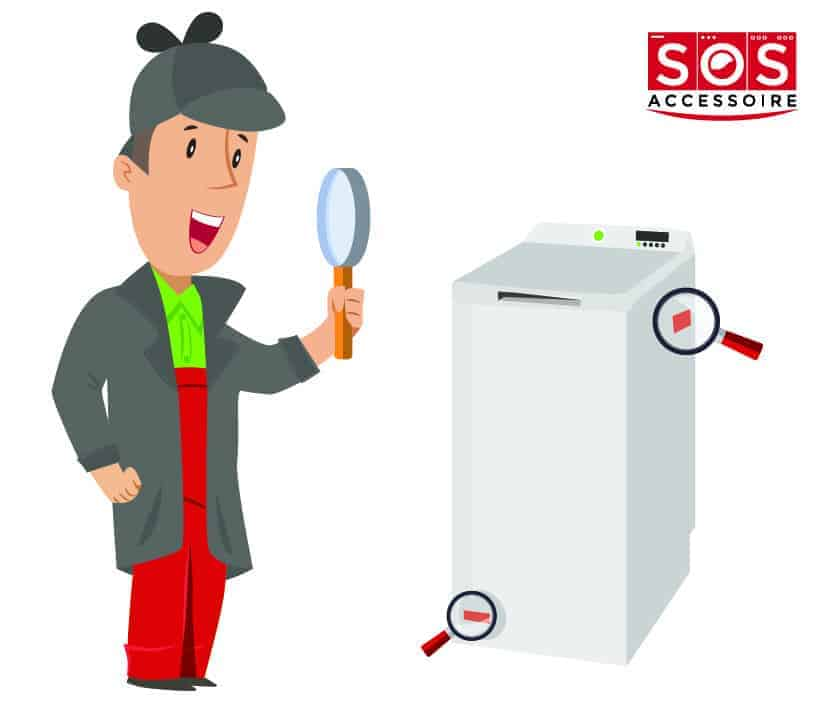 Localiser la plaque signalétique sur un lave-linge à chargement par le dessus