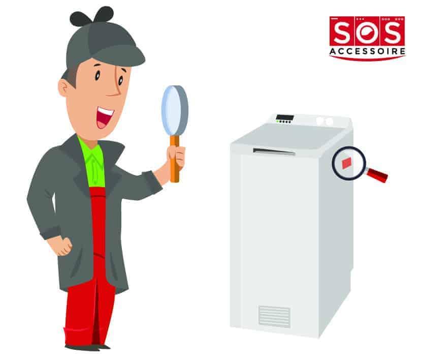 Localiser la plaque signalétique sur un sèche-linge à chargement par le dessus