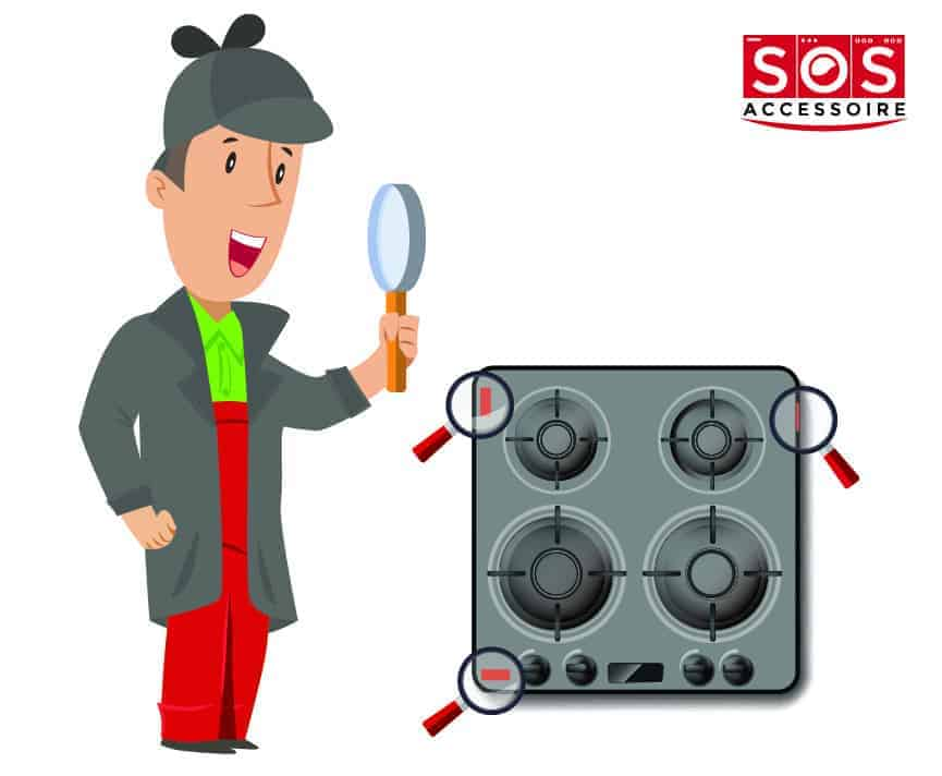 Localiser la plaque signalétique sur une plaque de cuisson