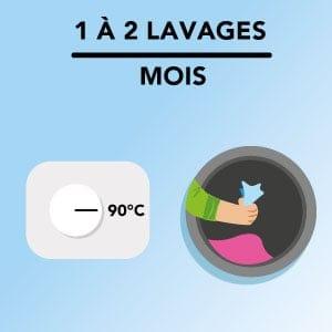 Faire un lavage haute température pour éliminer les micro-organismes