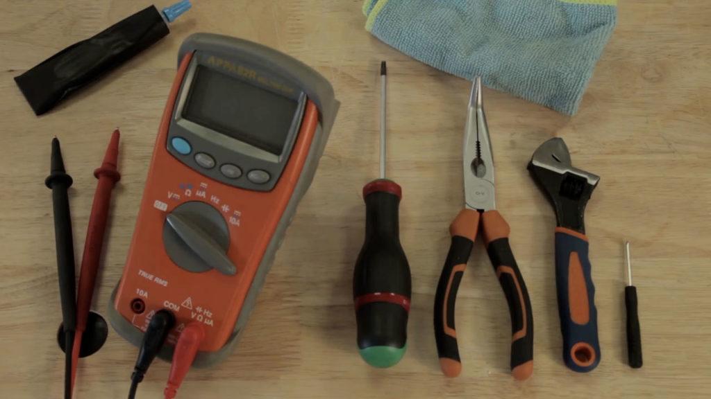 Les outils nécessaires pour cette opération