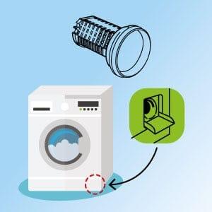 Observez l'état et nettoyez régulièrement le filtre de vidange de votre lave-linge