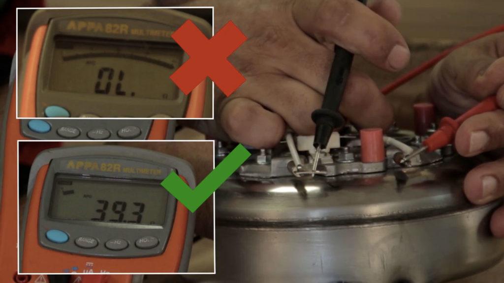 Testez la résistance de la chaudière de la centrale vapeur