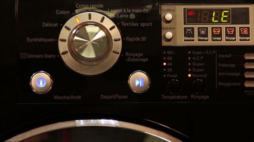 Code panne LE lave-linge LG