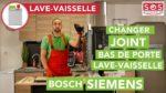 Comment changer le joint de bas de porte d'un lave-vaisselle Bosch Siemens
