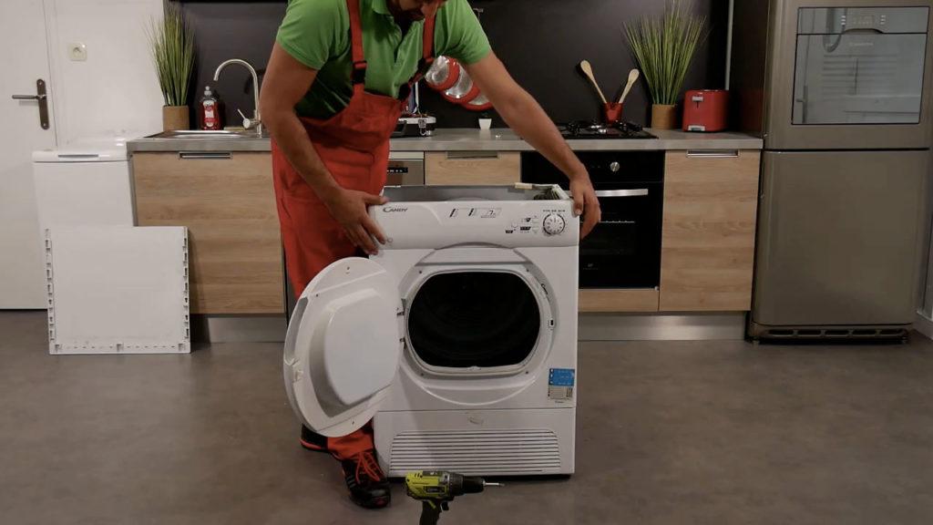 Remontez l'ensemble des éléments du sèche-linge
