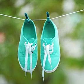 Chaussure en train de sécher