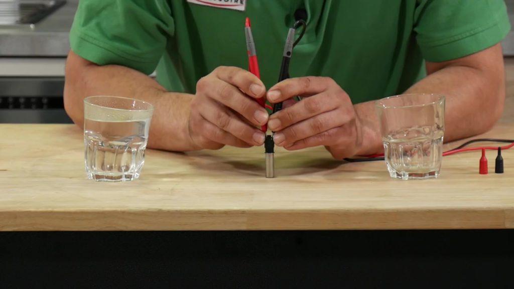 Tester la sonde à l'aide d'un multimètre