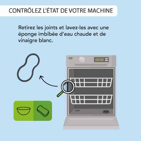 Contrôlez les joint de porte de votre lave-vaisselle