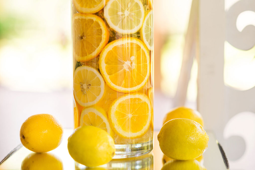 Le citron utilisé en décoration