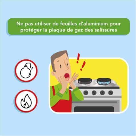 Ne pas utiliser d'aluminium