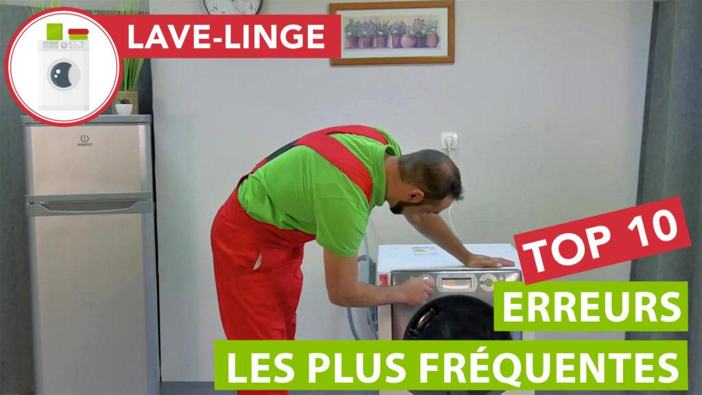 Les 10 erreurs fréquentes faites avec son lave-linge