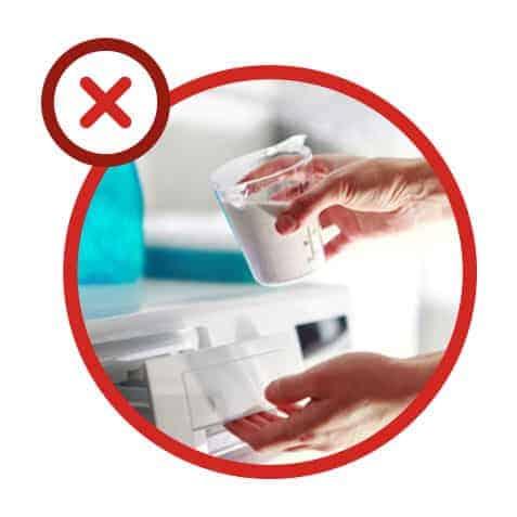 Erreur n°2 : mettre trop de lessive dans son lave-linge
