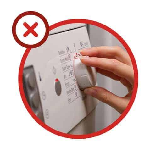 Erreur n°6 : toujours choisir un programme de lavage à basse température