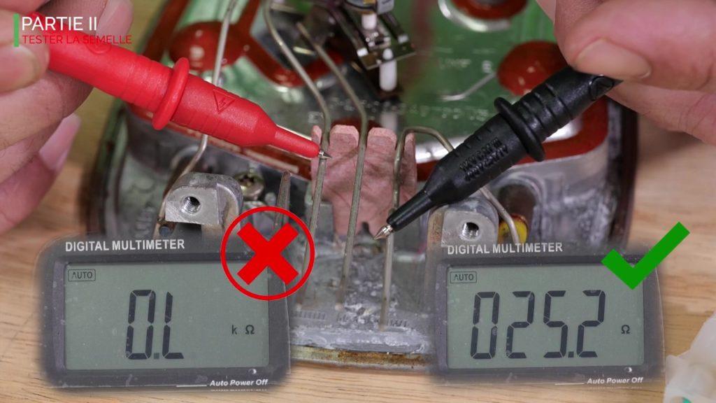 Contrôler la valeur ohmique de la résistance de la semelle de votre fer vapeur