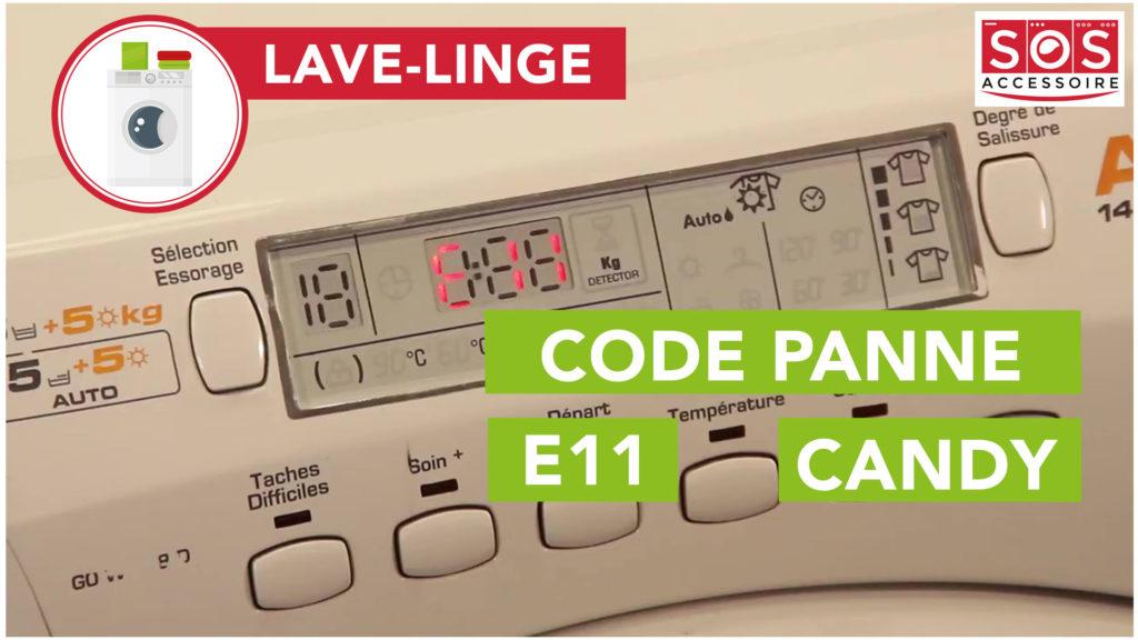 Mon lave linge candy affiche un code d'erreur E11