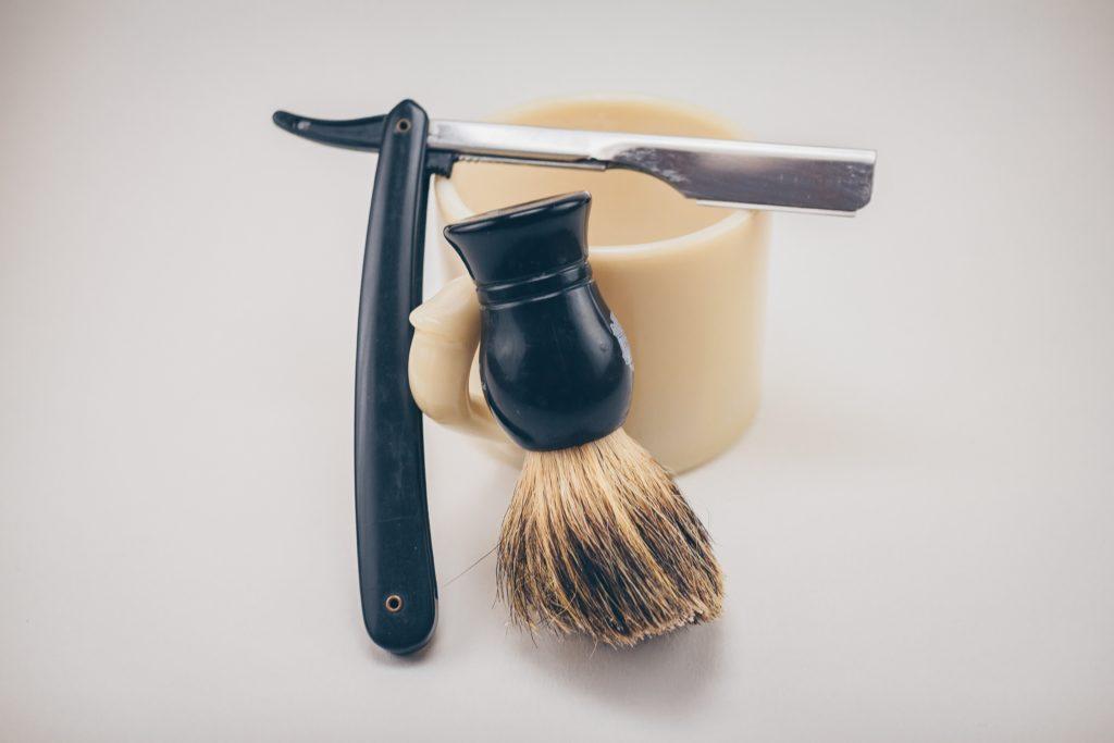 Shavette et blaireau pour la barbe
