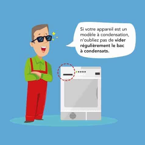 Nettoyer le bac à condensats