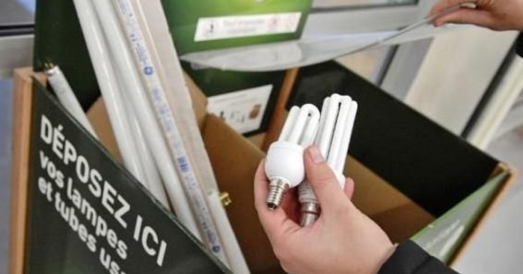 Recyclage des ampoules usagées