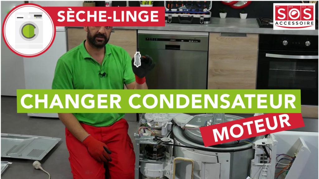Comment changer le condensateur moteur de mon sèche-linge Top Vedette ?