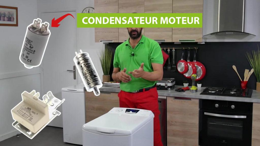 Les trois condensateurs du sèche-linge Vedette