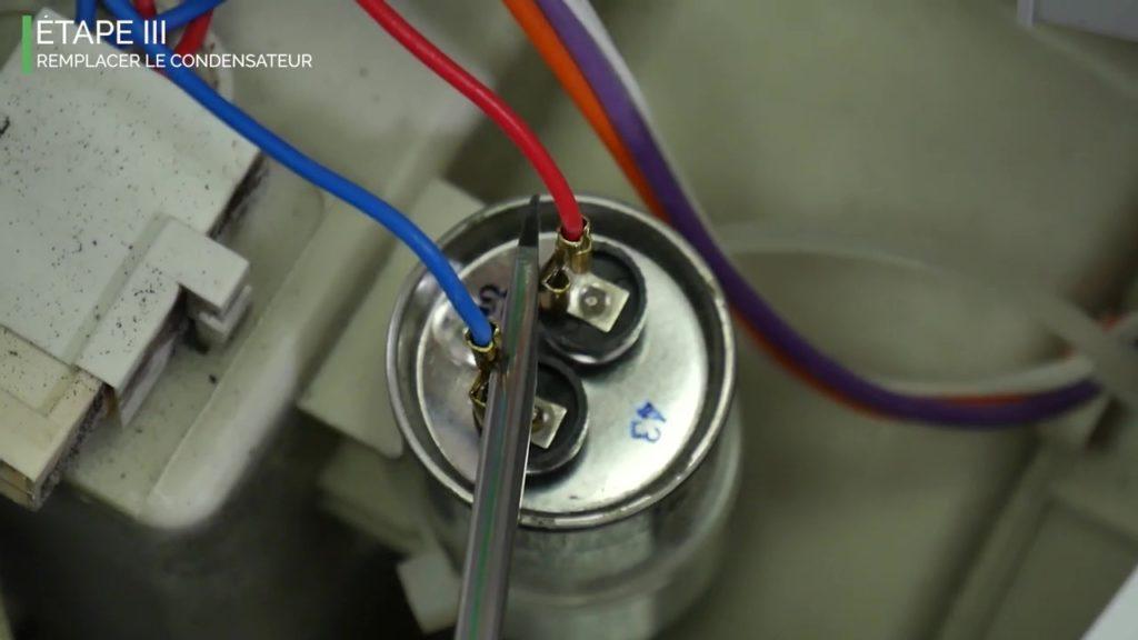 Remplacer le condensateur