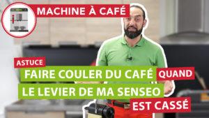 Faire couler du café quand le levier du couvercle est cassé