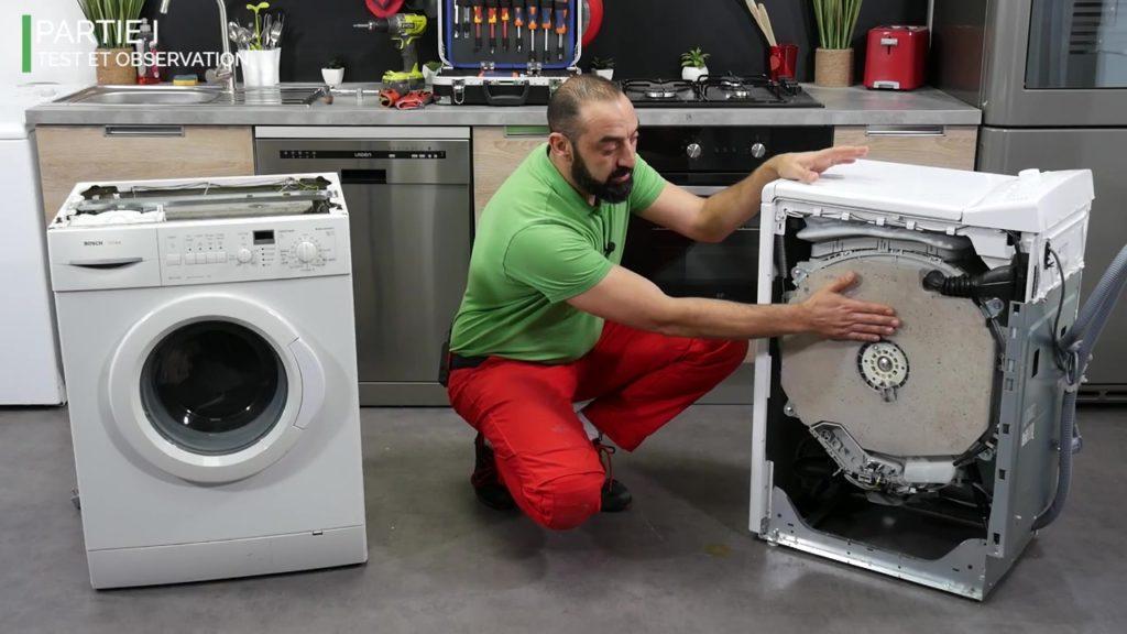 Les contrepoids dans les lave-linge top